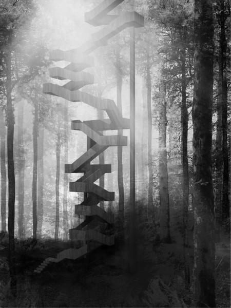 Eskailera, l'Escalier Ce?leste (Sur la terre et vers le ciel) Ce?le?bration du quotidien nume?ro trois, L'ASCENSION / Sandrine IRATCABAL