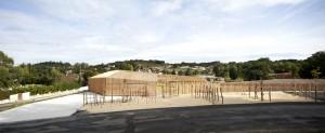 Colture et bâtiment d'entrée / Edouard Decam