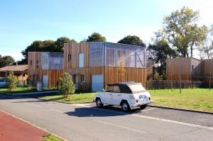 vue côté lotissement sur les accession / Hoerner Ordonneau architectures