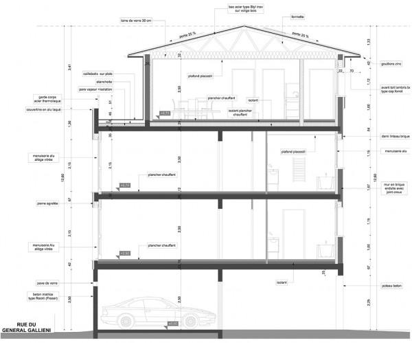 coupe transversale / Jean Dubrous architecture