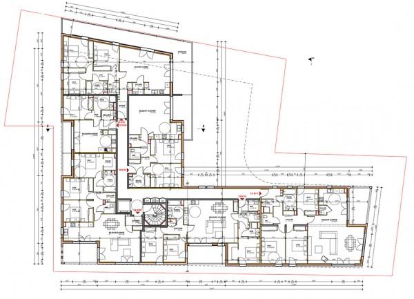 plan R+2 / Jean Dubrous architecture