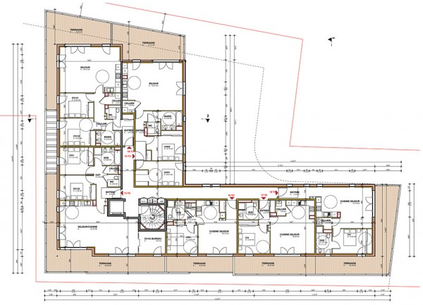 plan R+3 / Jean Dubrous architecture