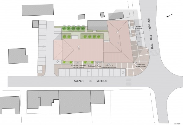 plan masse / Jean Dubrous Architecture
