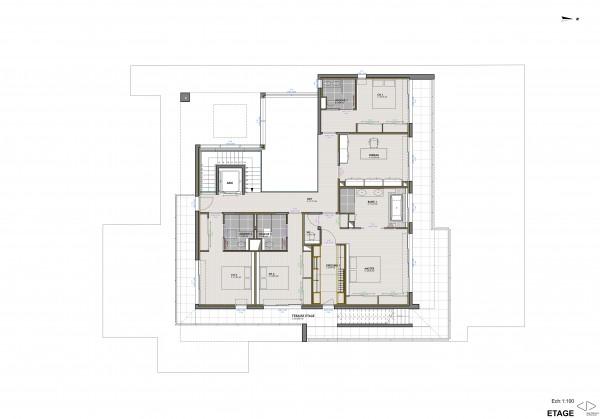 plan R+1 / Jean Dubrous Architecture