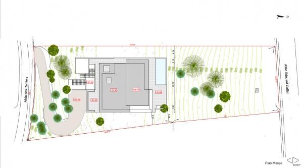 plan masse / Jean Dubrous Architecture