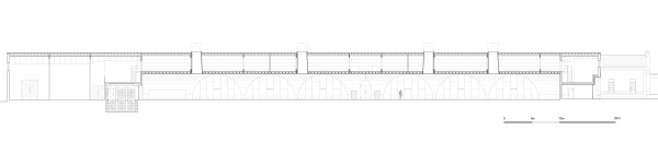 Coupe longitudinale / Bertrand Digneaux Architecte