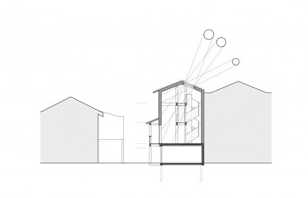 coupe transversale / Bertrand Digneaux Architecte