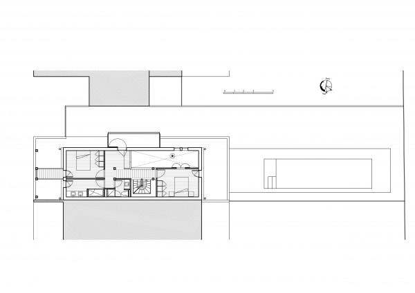 plan R+1 / Bertrand Digneaux Architecte