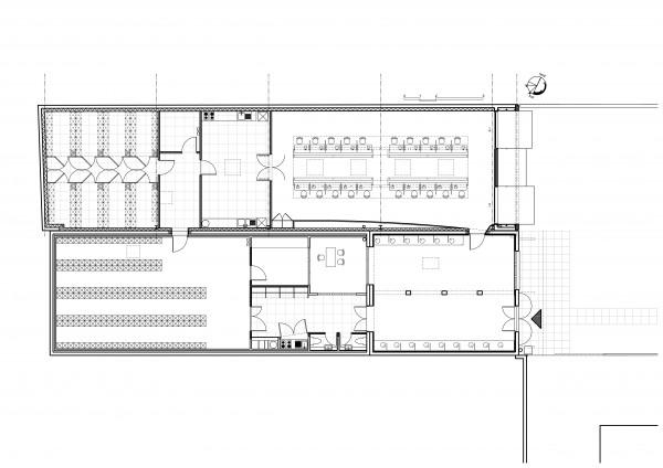Plan rez-de-chaussée / Bertrand Digneaux Architecte