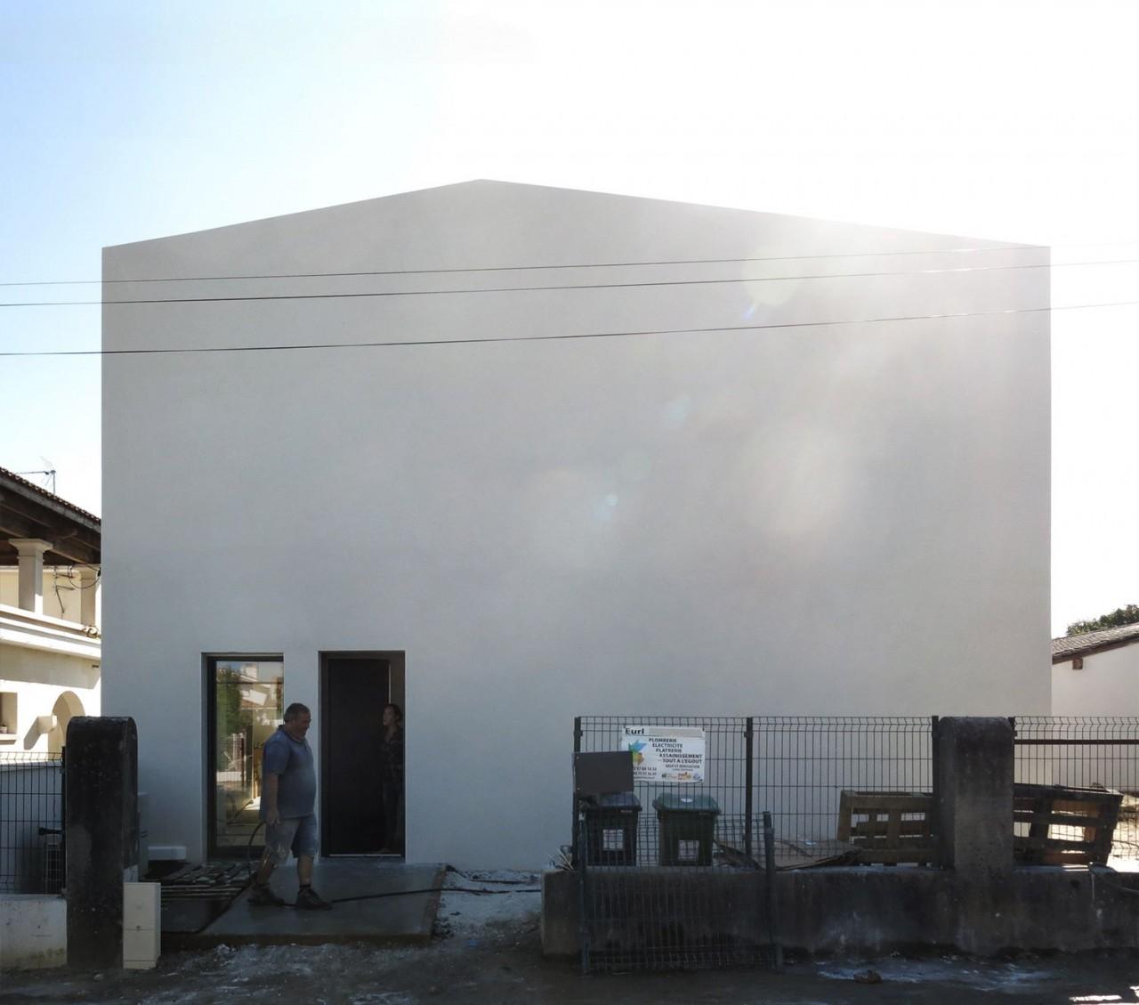 façade nord (chantier) / 2pma